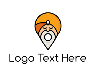 India - Map Guru logo design