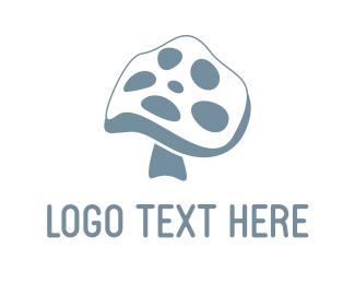 Cinema - Mushroom Reel logo design