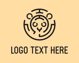 Cheetah - Feline Labyrinth  logo design