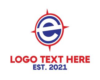 South - E Compass logo design