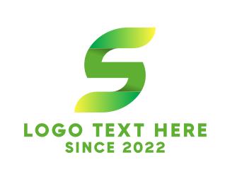 Lawn Care - Green Letter S logo design