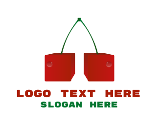 Dice - Cherry Cubes logo design