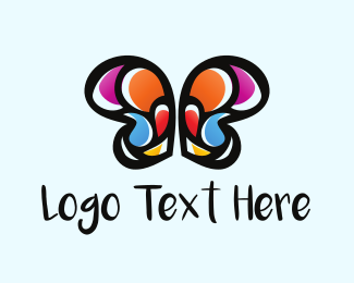 Mosaic - Butterfly Mosaic logo design