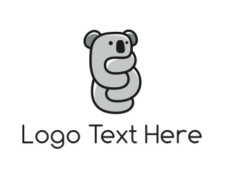 Black And Gray - Koala Hug logo design