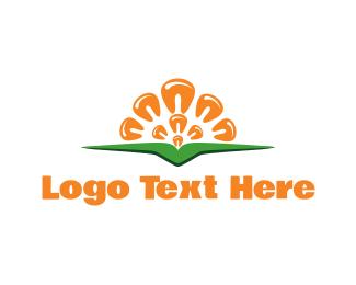 Harvest - Corn Sun logo design