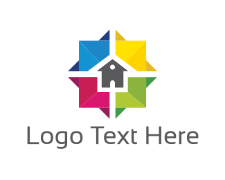 Builders - Colorful House logo design