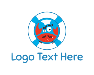 Cook - Crab Chef logo design