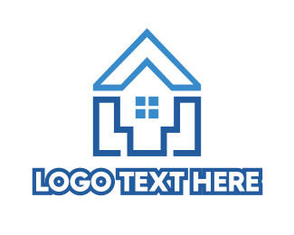Rent - Modern Shape House  logo design
