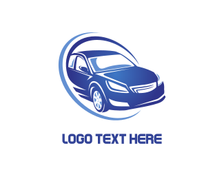 Racing - Blue Car logo design