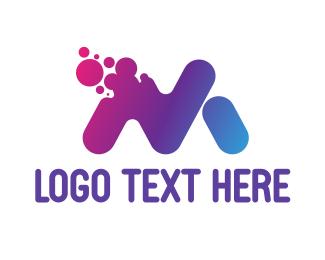 Sms - Disintegrating M logo design