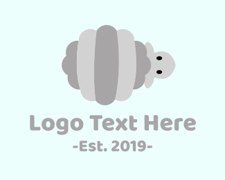 Lamb - Striped Sheep logo design