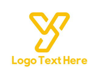 Letter Y - Yellow Y logo design