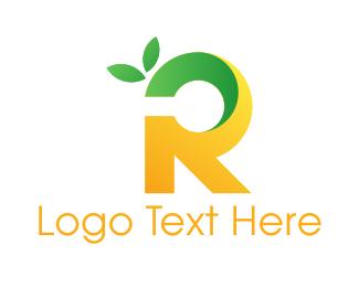 Tea Shop - Lemon Letter R logo design