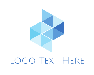 Interior Designer - Blue Glass Tiles logo design