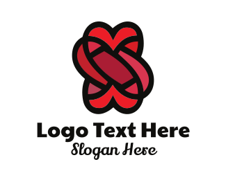 Wool - Heart Knot logo design