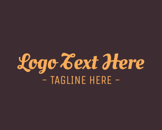 Wordmark - Brown Cursive Font logo design