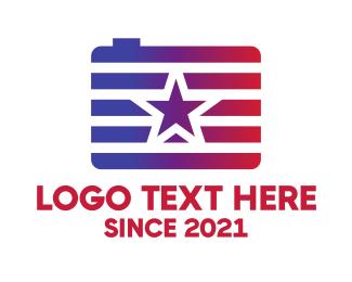 American - Camera Star logo design