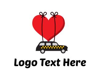 Cab - Taxi Love logo design