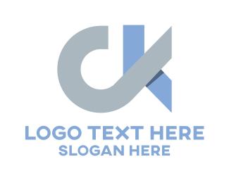 Initial - C & K logo design