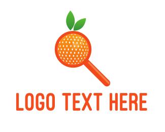 Zoom - Orange Search logo design