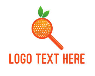 Find - Orange Search logo design