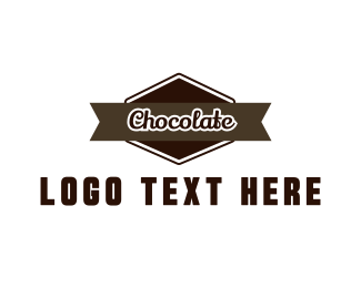 """Chocolate Label"" by BrandCrowd"