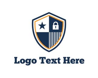 Virus - Blue Shield logo design