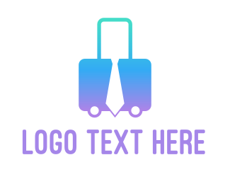 Air Travel - Business Trip logo design