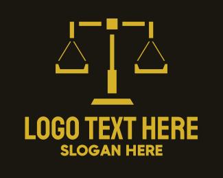 Judge - Legal Scales logo design