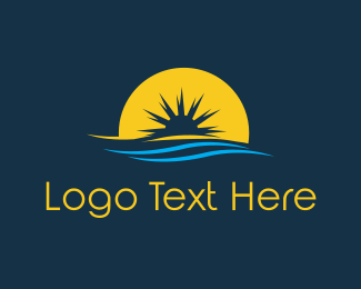 Travel - Horizon Sunset logo design