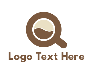 Cup Letter Q Logo