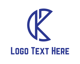 Letter K - Blue K logo design