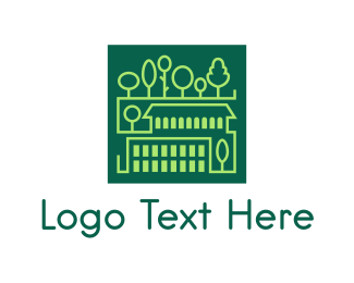 Square Green Town Logo