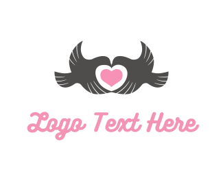 Engagement - Birds & Heart logo design