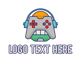 Robot Game Controller Logo Maker