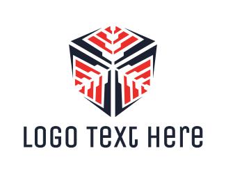 Frozen - Snowflake Cube logo design