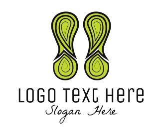 Feet - Green Footprint logo design