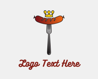 Sausage - King Hot Dog Bratwurst logo design