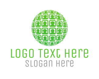 Ball - Globe & People logo design