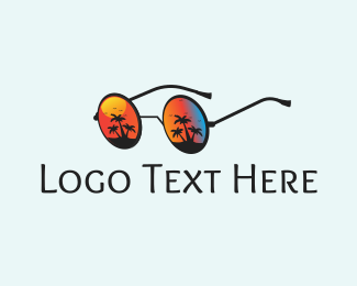 Ibiza - Beach Glasses logo design