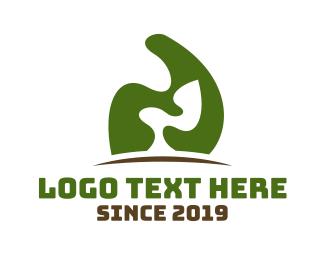 Grass - Abstract Green Tree logo design