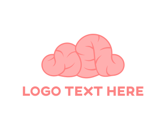 Artificial Intelligence - Pink Brain logo design