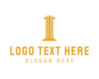 Pillar - Crown Pillar logo design