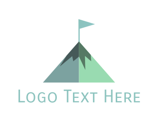 Hiking - Hill Flag logo design