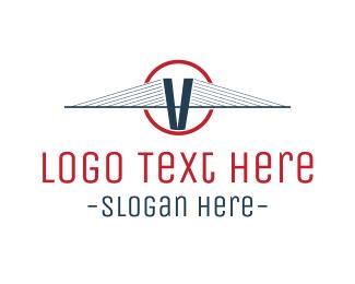 Letter V - Blue V Circle logo design