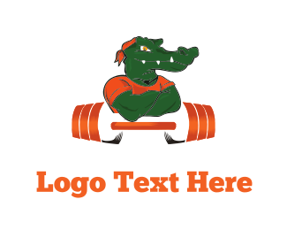 Personal Trainer - Strong Alligator logo design