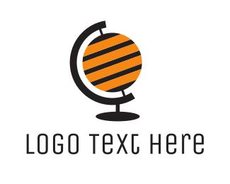 Sting - Bee Globe  logo design