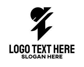 Letter I - Ninja Letter I logo design