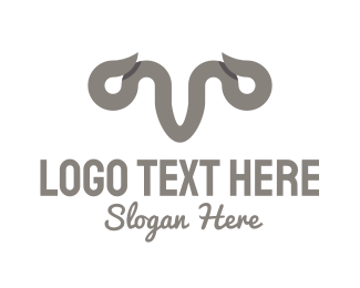 Horns - Grey Horns logo design