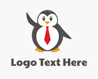 Human Resources - Business Penguin logo design